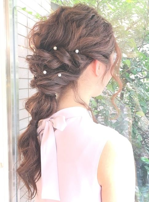 ダウンスタイルの結婚式おすすめヘアセット【famille】  ≪ #arrange #hairstyle #アレンジ #ヘアスタイル #髪形 #髪型 #お花見 #春 #date #spring #summer≫ http://beautynavi.woman.excite.co.jp/style/detail/51390?pint