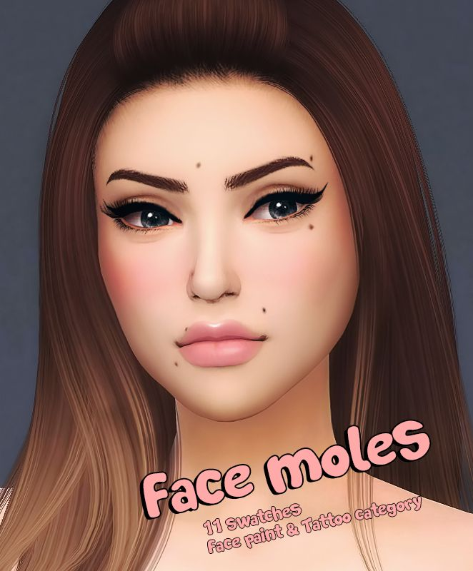 345 best sims 4 skin images on pinterest sims cc for Tattoo mole on face