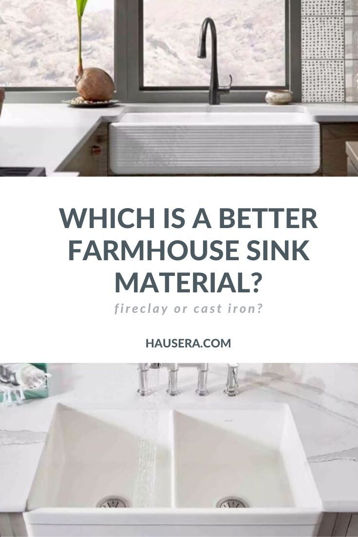 Farmhouse Kitchen Sinks Fireclay Vs Cast Iron With Images