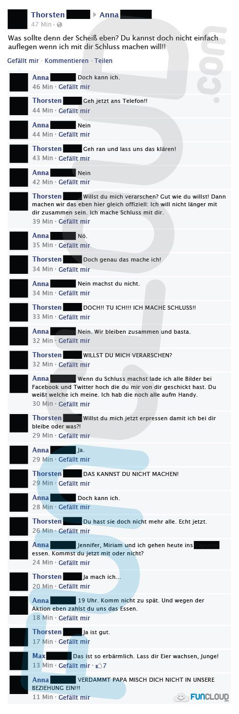 Ich mach schluss! - Facebook Fails des Tages 24.02.2015 | Funcloud