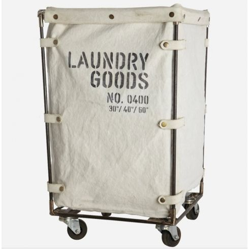 House Doctor Industrial Canvas Laundry Basket