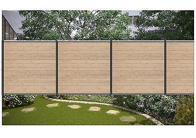 Komplett-Set für 9,09 Meter WPC Steckzaun Sichtschutz Zaun Farbe sand