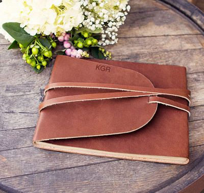 Looking for a unique guest book for your wedding or special event? This Leather Guestbook Journal is just the one for you.