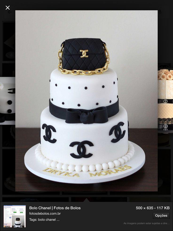 Chanel cake! #chadecozinha #chanel