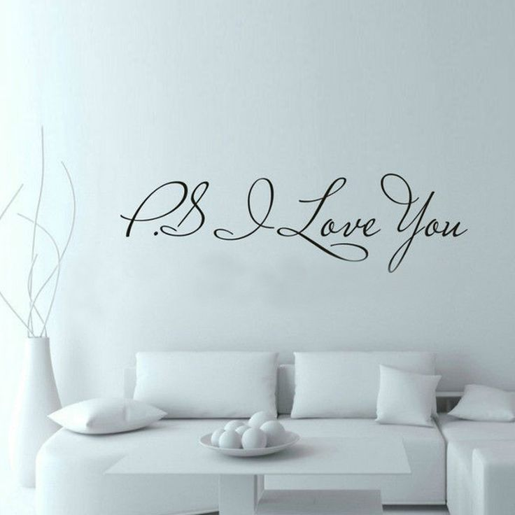 PS I Love You Wall Quote Decal //Price: $ 9.95 & FREE shipping //  #interiordesign #interior #walldecal #wallsticker #wallstickermurah #decor #walldecor #walldecals #homedecor #wallart #design #decor #wallstargraphics