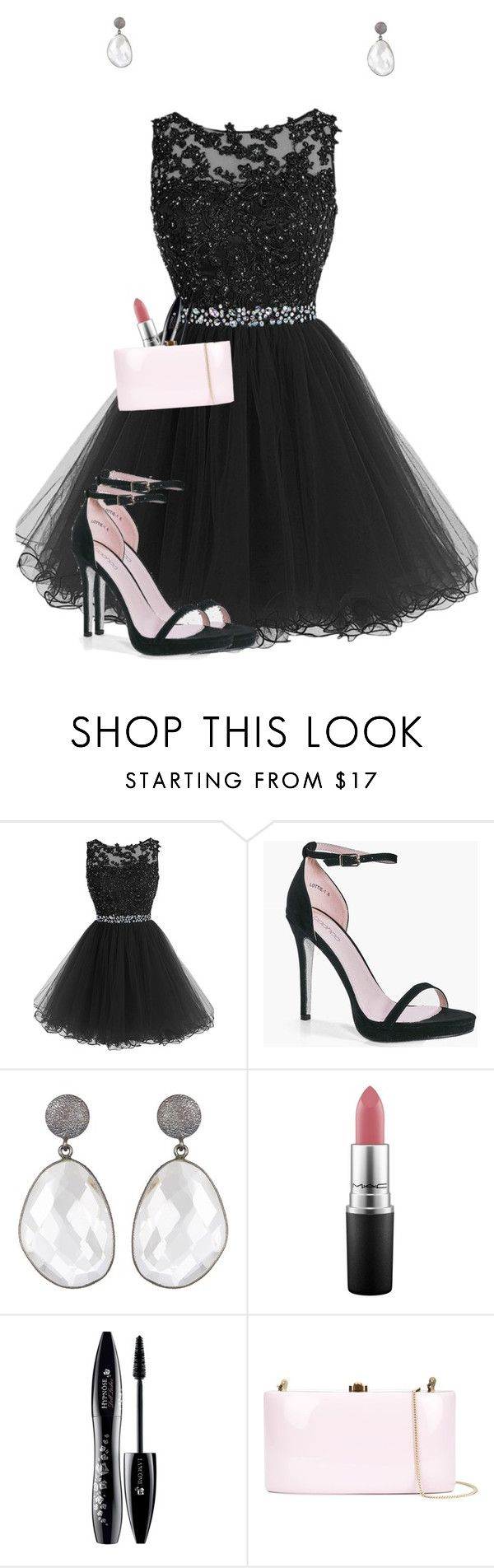 """""""Invert color challenge!"""" by jackrabbit0823 ❤ liked on Polyvore featuring Boohoo, MAC Cosmetics, Lancôme and Rocio"""