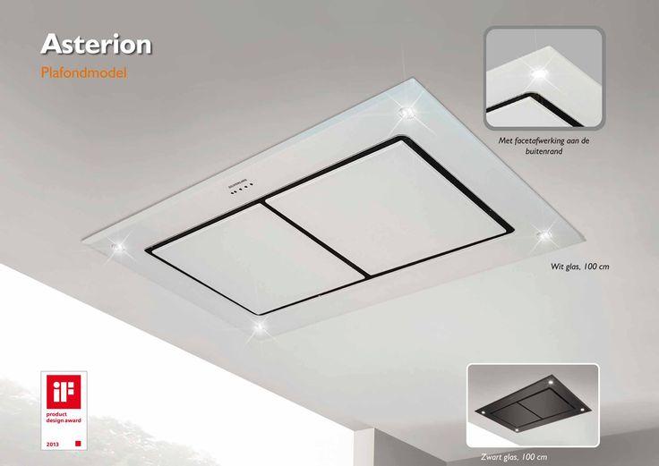 Wave Silverline Asterion Plafond Kitchen Ventilator ASD 124 W 120 X 70 Cm  Wit Glas U20ac