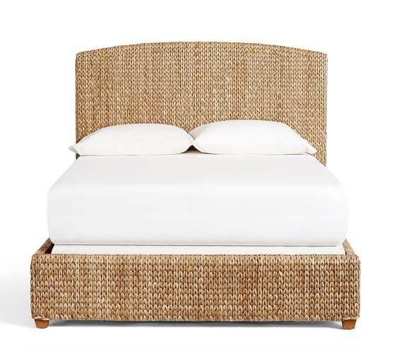 Seagrass Bed & Headboard | Pottery Barn