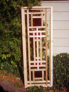Mission style wood lattice trellis galewood lattice for Craftsman style trellis