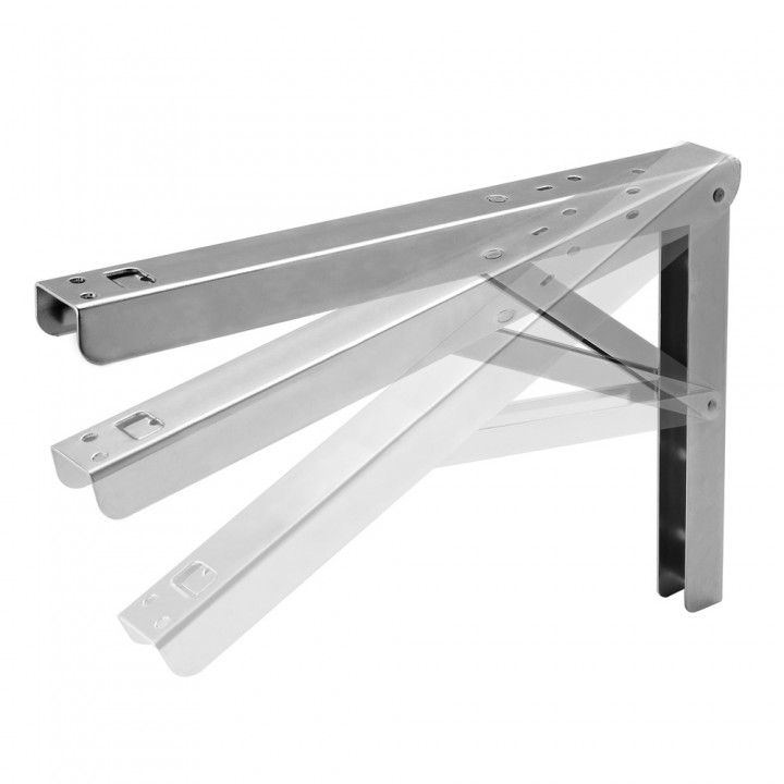 folding shelf brackets for drop down counter extensions wall desks and related non wet projects