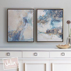 Check out this pair of canvas prints finished in gold & black floater frames. Now available in the shop!