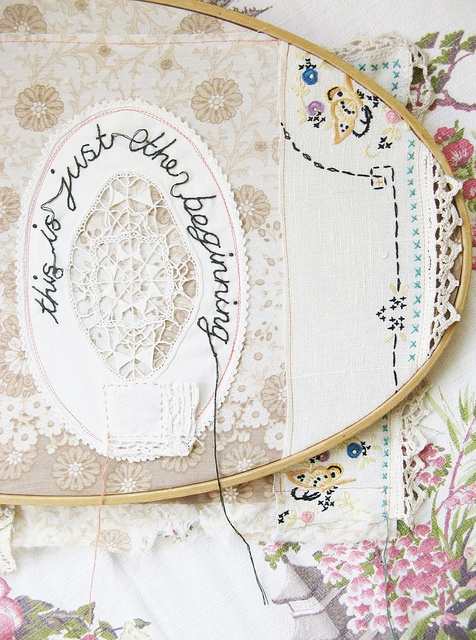 Adore this idea, now to find vintage doilies. Maybe @Danielle Burkleo can help :)