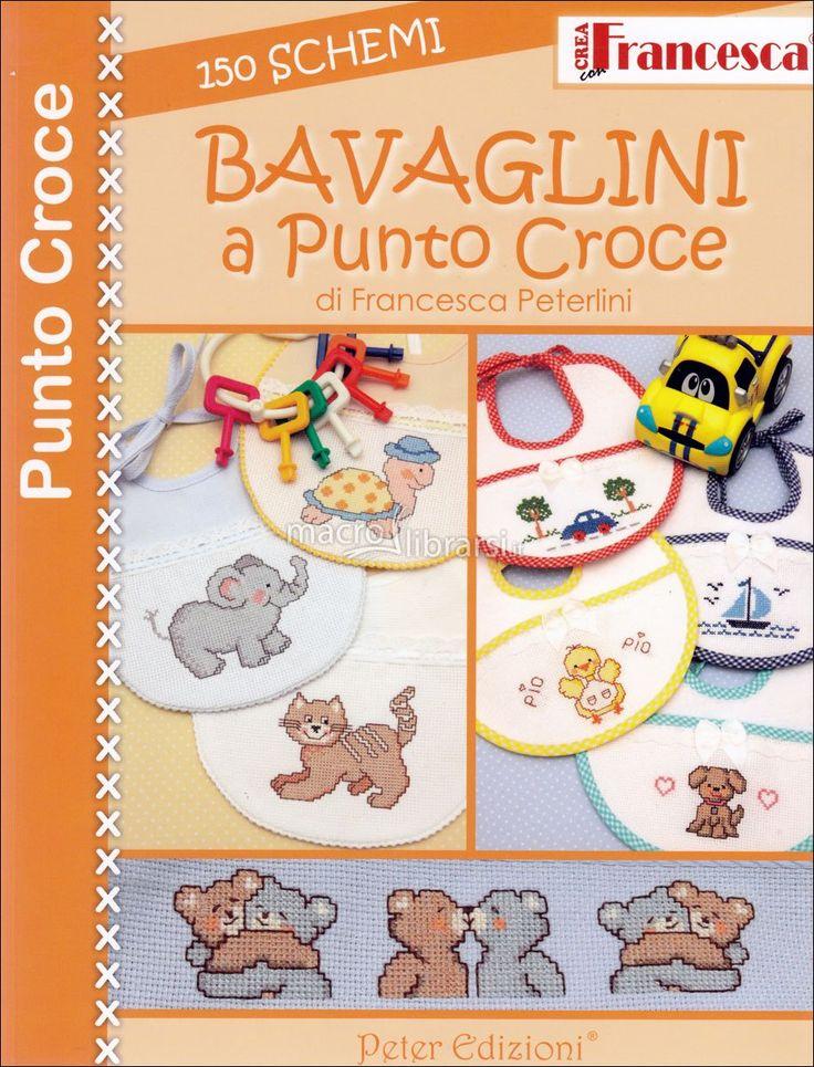 Centrotavola Punto Croce Schemi Gratis | Bavaglini a Punto Croce - 150 Schemi - Libro - Francesca Peterlini