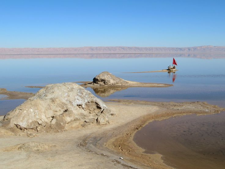 """The salt lake Chott El Djerid east of Tozeur, Tunisia, was made famous in the film """"The English Patient""""."""