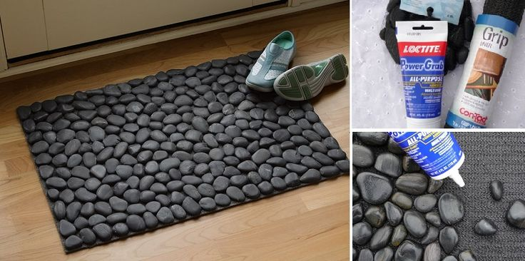 Vyrobte si nádherný koberec alebo rohožku z kamienkov. Jednoduchý návod, na ktorý budete potrebovať len tri predmety. Koberček v kúpeľni vám pomasíruje chodidlá.