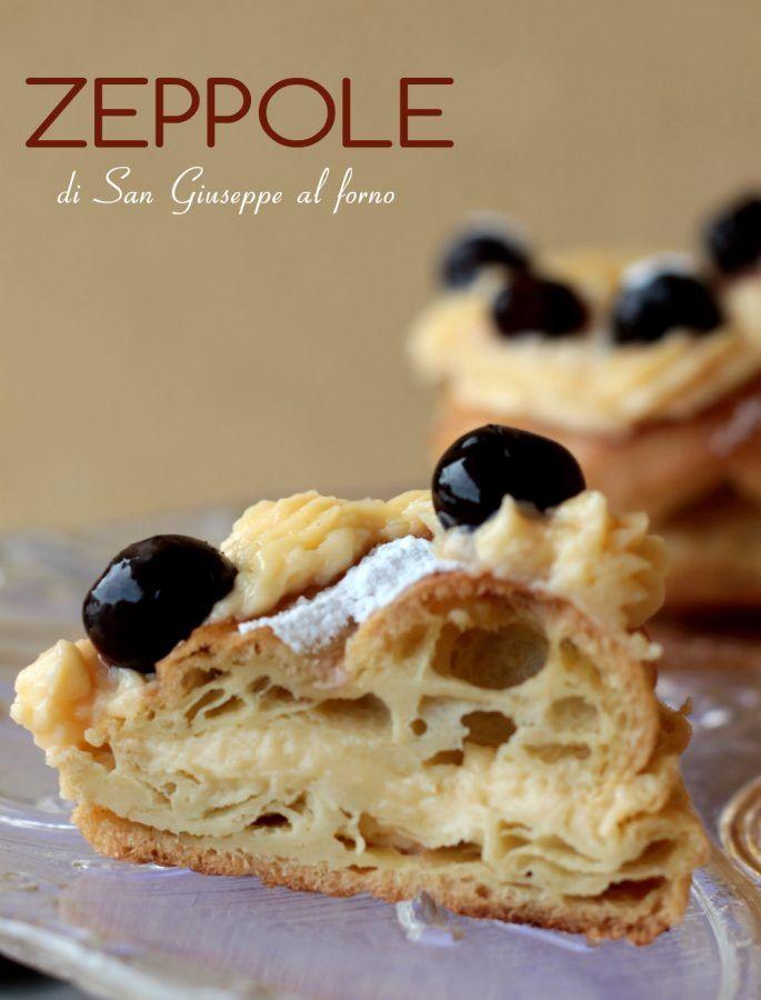 Zeppole+impasto+con+olio+senza+burro+cotte+al+forno+leggere+gonfie