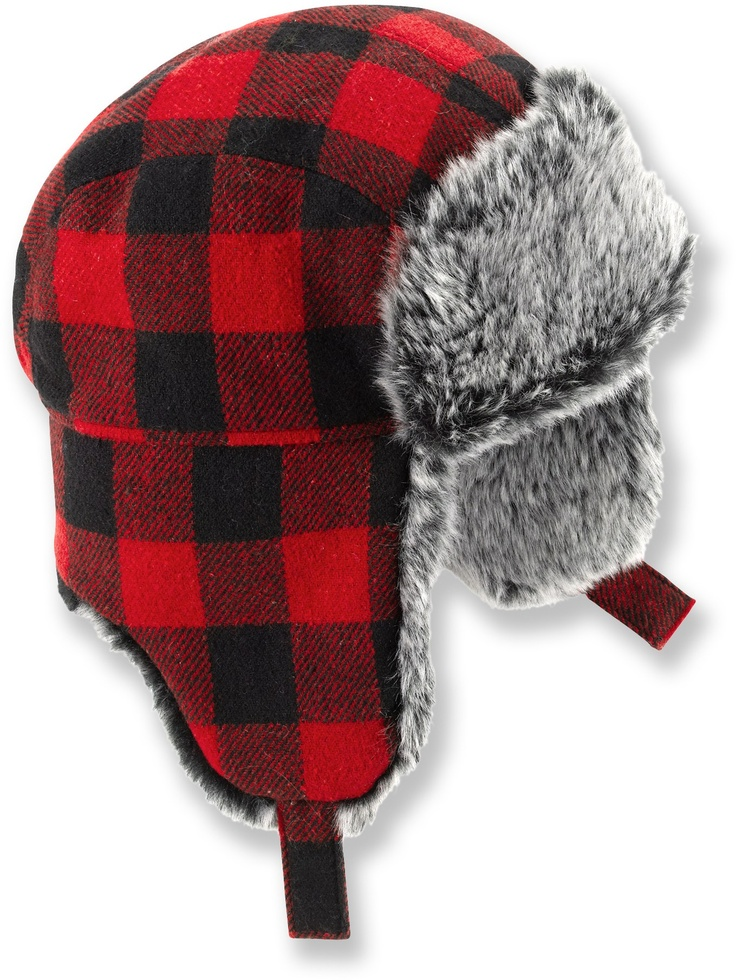 REI Wool Plaid Trapper Hat - Toddler Boys' at REI.com