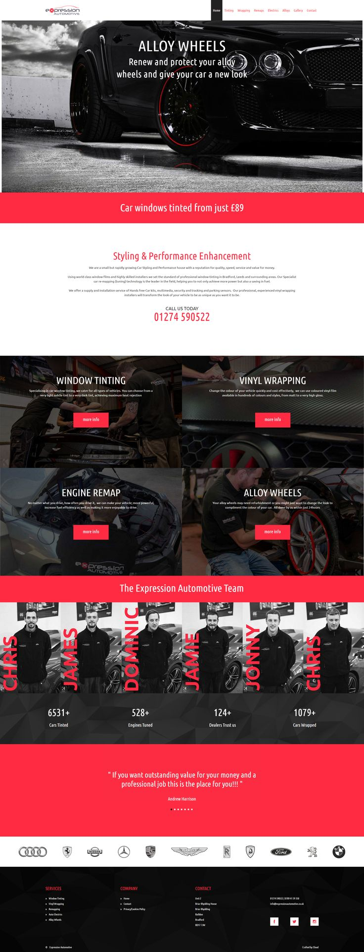 Website for Expression Automotive.  Fully responsive website.  #webdesign #responsive #design #automotive #bradford #cars #tinting #wrapping #tuning