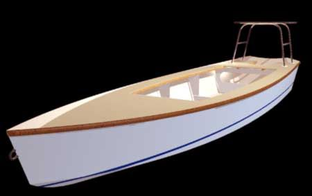 """Homemade Foam Boat   Top to bottom: the """"Flats Skif"""" FS-18, the """"Texas Sled"""" TX-18 (3), and ..."""