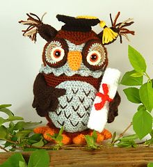 Graduation Day Owl for that scholastic achiever in your life! Crochet Pattern on Ravelry