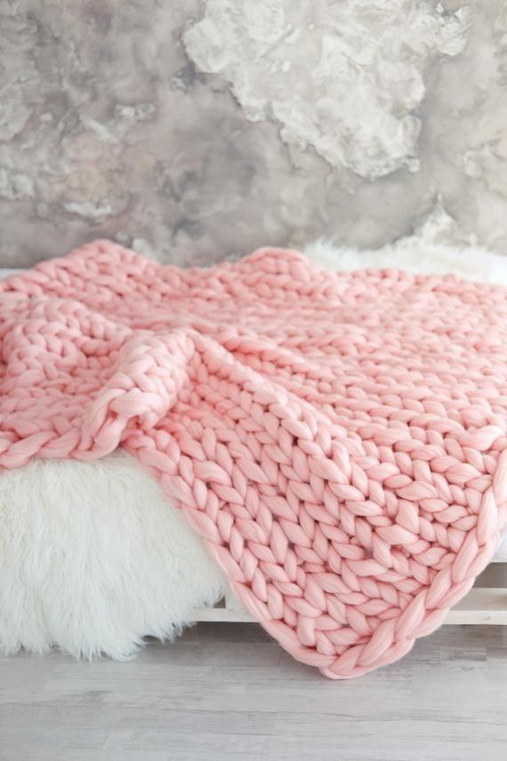 Chunky Stricken Decke Merino Wolle Decke Arm Stricken Decke