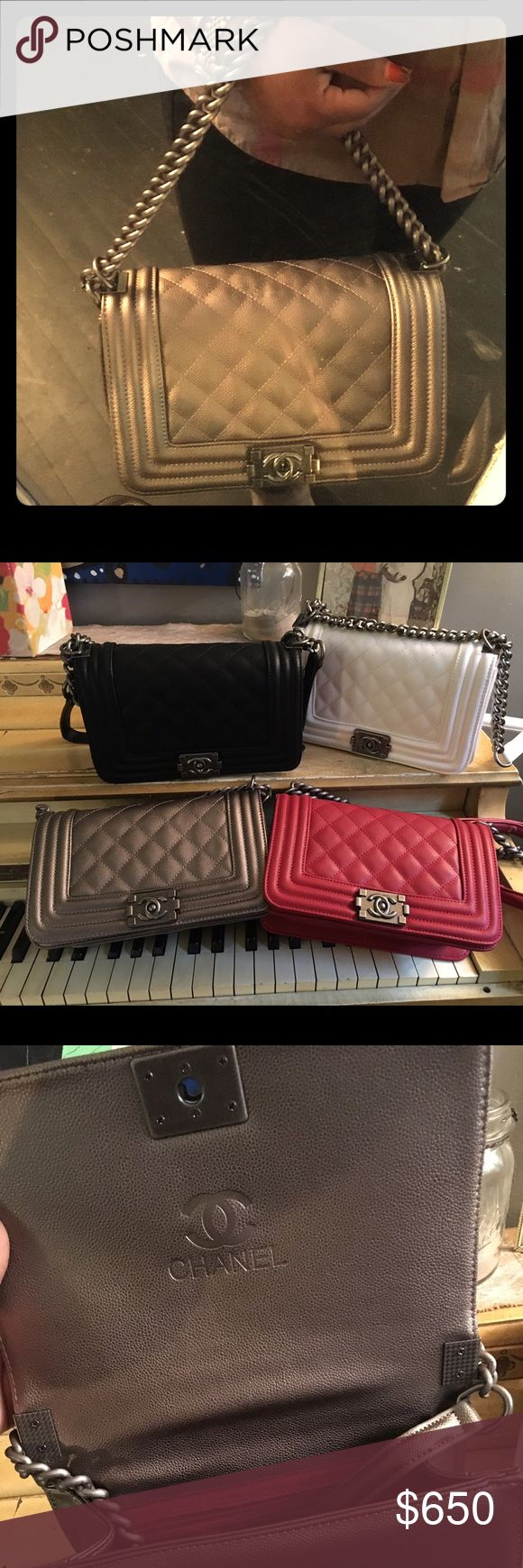 """My last of my Collection... Silver/pewter color My last of my Collection... Silver/pewter color Chanel bag new. Price reflects authenticity. A1 bag, brand new👌🏿 11x6.5"""" CHANEL Bags"""