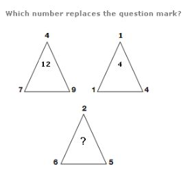 It's puzzle time at Delphi!  Which number replaces the question mark in the last triangle?  Your options for the answer:  9 8 4 1 Let's see who gets it right! Drop your answers in the comment box!