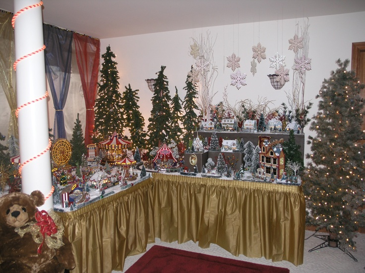 christmas village with a circus twist