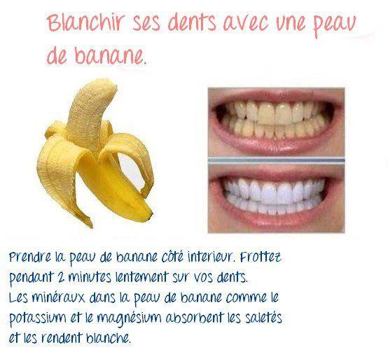 Peau de banane = dents blanches