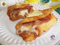 Cotolette di pollo farcite con crudo e formaggio ma...arrotolate ad involtini e ripassate sotto al grill del forno per qualche minuto, un'idea molto gustosa