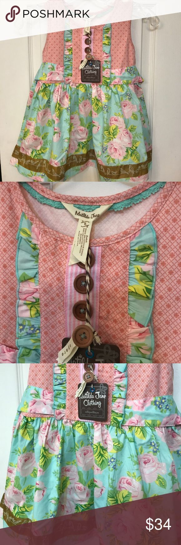 Matilda Jane Vault oh so lovely Shasta Top Girls size 8 Matilda Jane oh so lovely Shasta top. Part of the vault release, summer 2016.  New with tags Matilda Jane Shirts & Tops