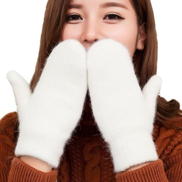 Ysdnchi Hot Sale Fashion Women Girl Winter Gloves Pure Color Rabbit Fu Stuff Mart Canada Girls Winter Gloves Winter Gloves Women Wool Gloves