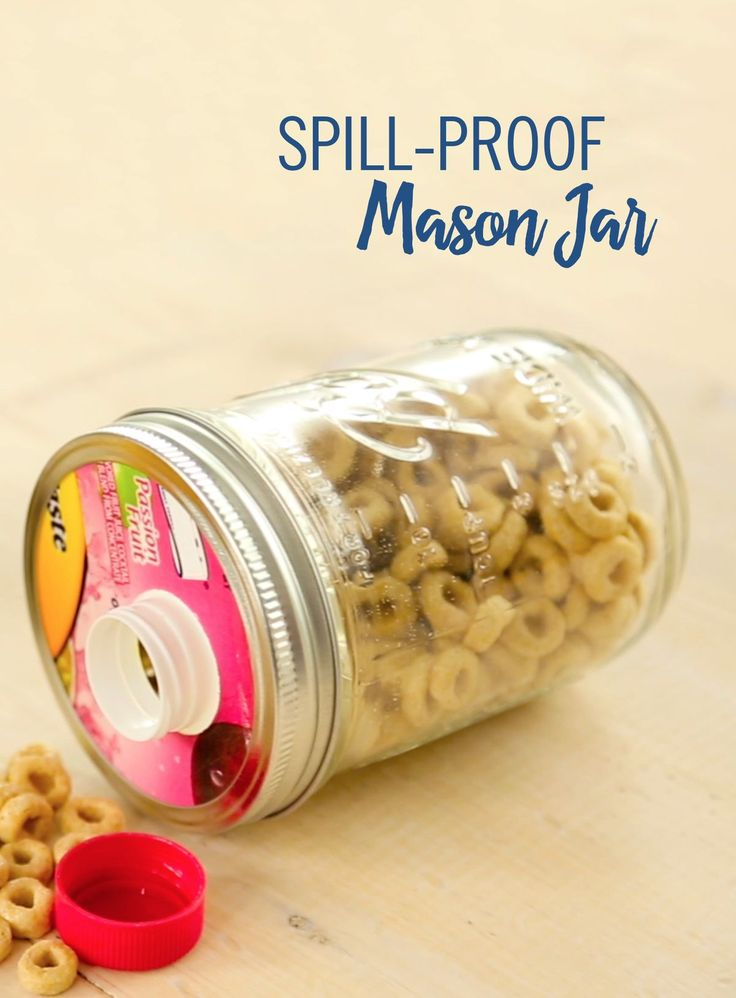 We know the little ones can get messy in the backseat, but you don't want to spend your vacation time worrying about crumbs. This DIY spill-proof mason jar is the perfect way to keep the snackers happy while keeping your car floor clean! All you need is an old juice container and a mason jar to create this mess-free craft.