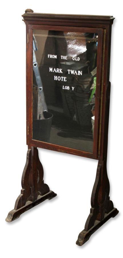 Original Marquee From The Mark Twain Hotel In Elmira Ny