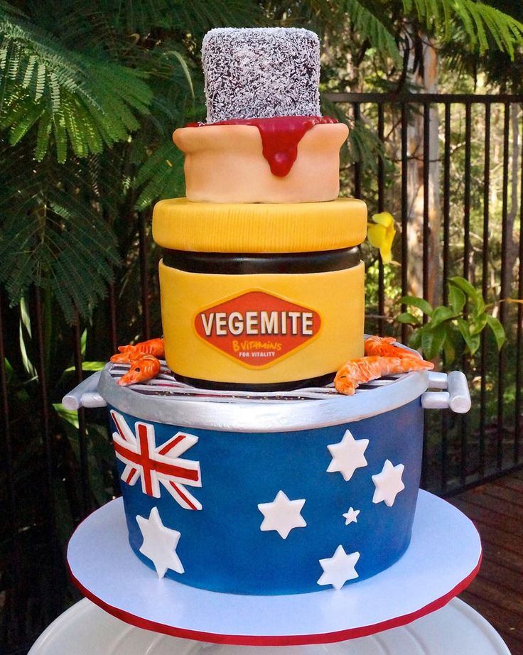 Literally Australia as a cake apart from the weather cause no one wants a fire or flood on a bloody cake