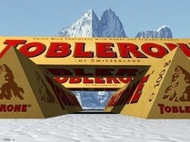 The most famous of all Swiss chocolates~because it signifies two characteristics of the country: Milk Chocolate and the Matterhorn. Toblerone was founded in 1908 by two guys: Theodor Tobler and Emil Baumann.