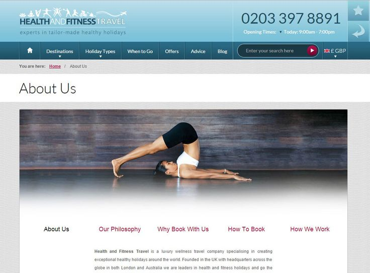 The leading #experts inhealth and fitnessholidays, visit our About Us page to learn more about how we work and what we do.