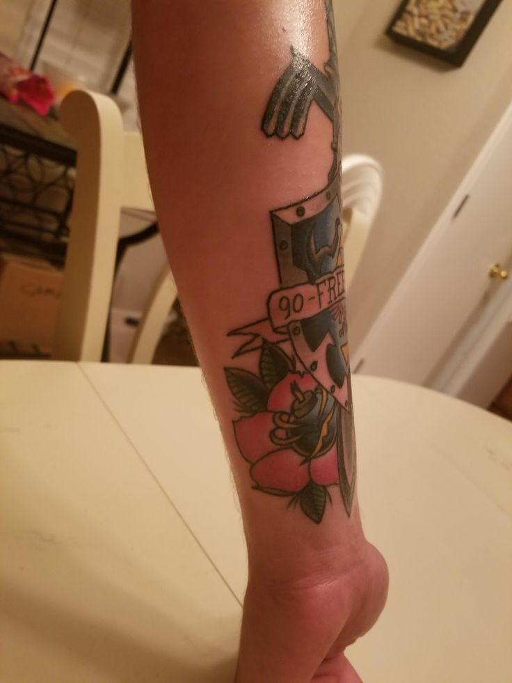 My Zelda tattoo I just got done! By Boston Chambers at Stay True Tattoo in OKC OK.