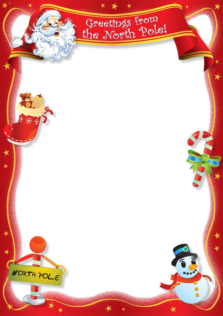87 best kids christmas party images on Pinterest Christmas letters - santa template letter