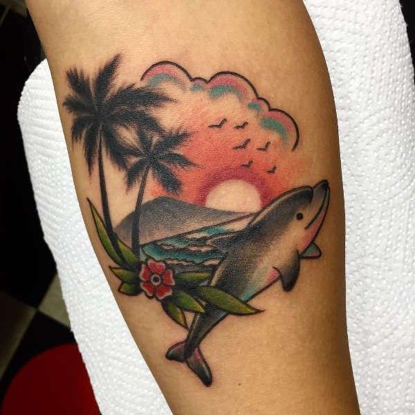 Tatuaż Delfin Znaczenie Historia 25 Zdjęć Pomysł Na