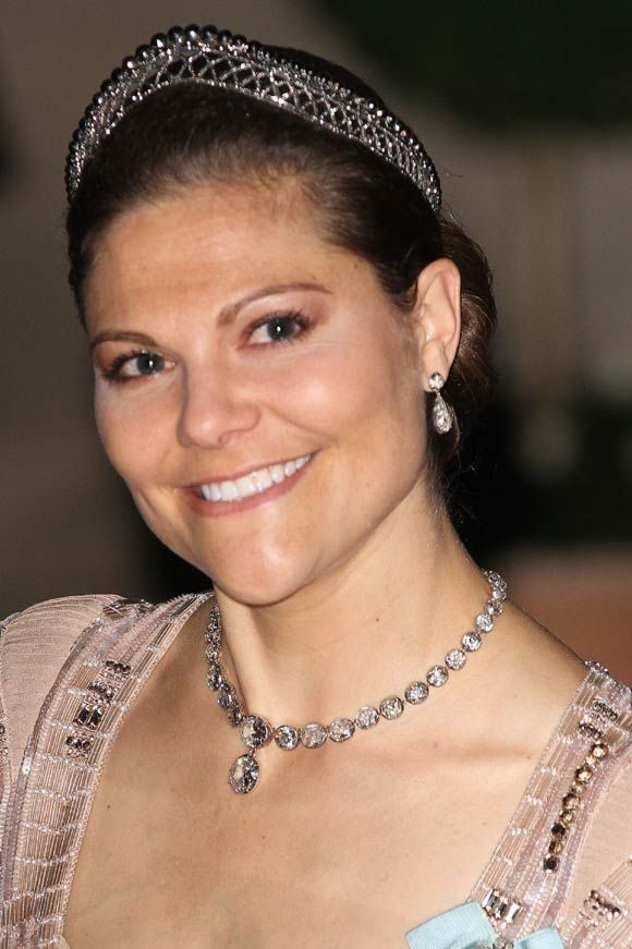 Victoria wearing a quite different diamond tiara.Marie Poutine's Jewels & Royals: The Crown Princess of Sweden
