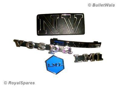 ★EARLY LML VESPA HORNCAST BADGE KIT (5 PCS) NV MODEL    BULLETWALA   eBay $6.99