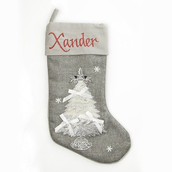 Personalised Stocking | Silver Tree Stocking