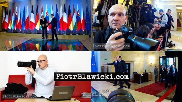 HOW PRESS PHOTOGRAPHER WORKS. Welcome: Merkel, Hollande, Tusk