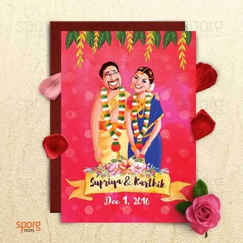 Unique Indian wedding invitation card ideas   Sporg Stores