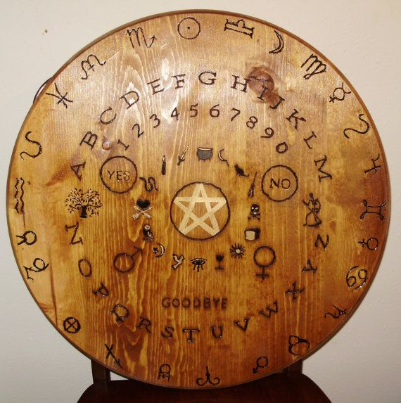 wooden witches seance / ouija table top by evinders on Etsy, $249.00
