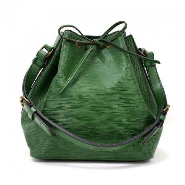 Louis Vuitton Green Epi Leather Petit Noe Shoulder Bag Tradesy (¥1,100) ❤ liked on Polyvore featuring bags, handbags, shoulder bags, epi leather handbags, green shoulder bag, shoulder bag handbag, shoulder handbags and green purses
