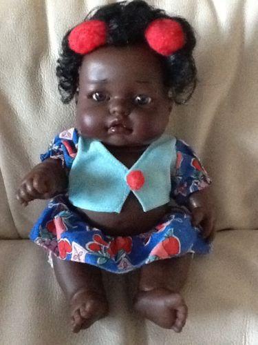 J-berna-NERO-BABY-GIRL-10-PROFUMATA-BAMBOLA-ETNICI-AFRICANI-PELLE-SCURA-Afro-CARRIBBEAN