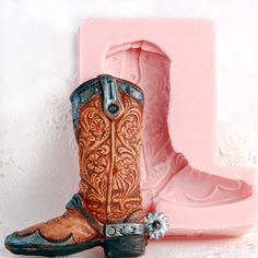 Cowboy Boot Silicone Mold  Extra Tall Western by MoldMeShapeMe, $9.00