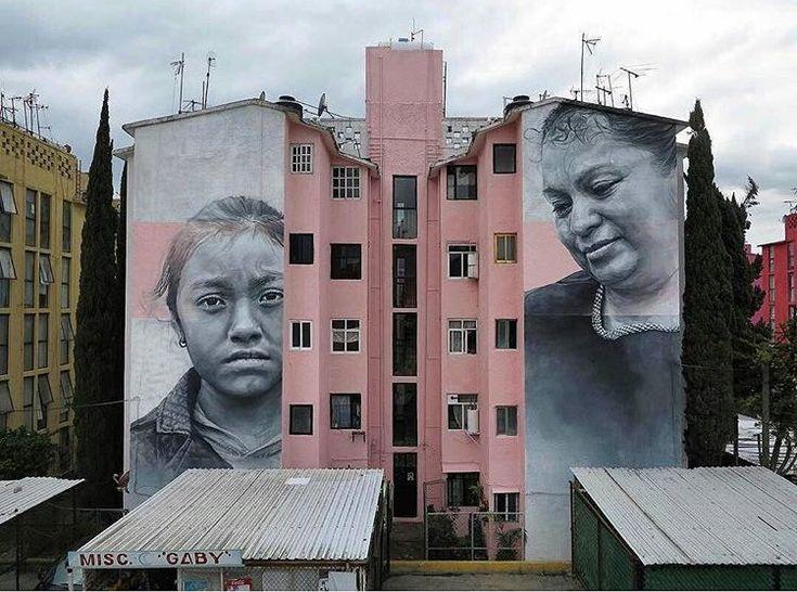 Remarkable new Street Art by Guido van Helten found in Ecatepec Mexico #art…